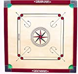 #10: GuruKripa Sports full size (Large) CUT POCKET Carrom Board with (COINS,STRIKERS &CARROM POWDER.....free)_81.28cm