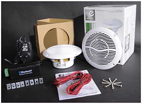 E Audio Bluetooth Ceiling Speaker Kit Bathroom Wireless Bluetooth Amplifier  Water Resistant Ceiling Speakers