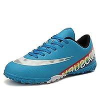 Men's Voetbalschoenen, Kids' Volwassenen Football Training Shoes Non-Slip Indoor Voetbalschoenen Unisex Ademende Soccer Sneakers,Blue,41EU