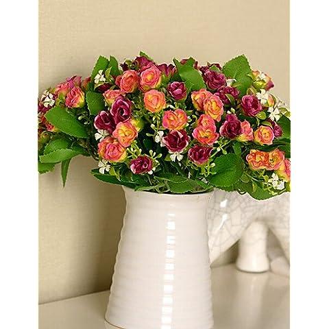flores artificiales, Seda / Plástico Rosas Flores Artificiales , pink