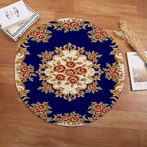 Teppiche Runder Teppich Art Deco Teppich Wohnzimmer Schlafzimmer Arbeitszimmer Kinderspielzimmer Weicher Teppich rutschfeste Wasseraufnahme Stilvolle Möbeldekoration Teppichunterleger