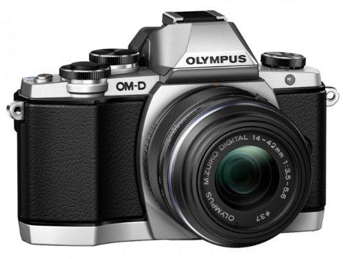Olympus OM-D E-M10 Kamera (Live MOS Sensor, True Pic VII Prozessor, Fast-AF System, 3-Achsen VCM Bildstabilisator, Sucher, Full-HD, HDR) inkl. 14 bis 42mm Standard-Objektiv (manueller Zoom) silber Olympus Image Systems