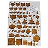700 bunt sortierte oder gemischte Quilling-Papierstreifen in vielen verschiedenen Varianten - Unterschiedliche Breiten und Längen verfügbar - Papier-Flechtstreifen zum kreativen Basteln und Gestalten (Zubehör, Quilling-Schablone (Weiß))