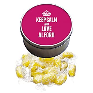Duke Gifts PINK Keep Calm and Love Alford Lemon Sherbets Sweet Tin 0008