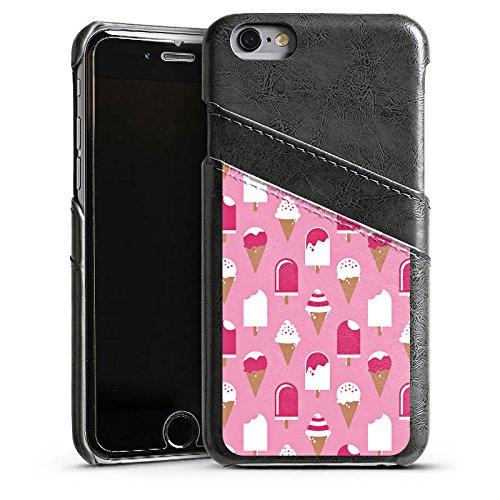 Apple iPhone 4 Housse Étui Silicone Coque Protection Glace Glace Été Étui en cuir gris
