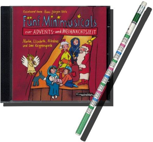 Fünf Minimusicals zur Advents- und Weihnachtszeit! DIE CD! Reinhard Horn & Jürgen Netz - für Kinder ab 6 Jahre. Ideal für Kindergarten, Schule oder Gottesdienst! INKLUSIVE praktischem Rechenbleistift!