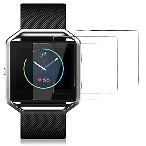 Films de Protection d Ecran pour Fitbit Blaze Montre Connectée, AFUNTA  Protecteur de Smartwatch 5cfedd85fd3b