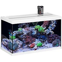 Eheim Aquastar 63Marin - Acuario para acuariofilia, color blanco, 2x 12W, 63L