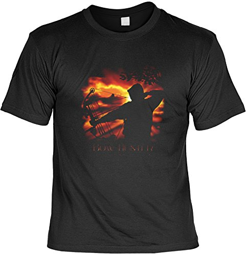 T-Shirt Bow Hunter USA Motiv Shirt Amerika Bogenschießen Herren T-Shirt American Laiberl Leiberl Geschenk für Freunde