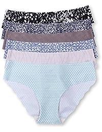 La Isla Damen 6er Pack Komfort Slip - Tailored No Show Low Rise Bikini Hipster