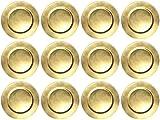 12 Stück Platzteller Gold Ø 33cm Dekoteller Weihnachten Advent Hochzeit Tischdekoration Unterteller Kunststoff Teller underplates 12er Set
