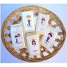 Detalles y Recuerdos de Primera Comunión Para Invitados - Jabones Personalizados de Té Verde - Un