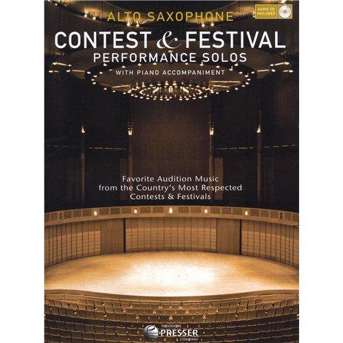 CONTEST und Festival Performance Solos–ALTO SAXOPHON. CD, Noten für Alt-Saxophon, Klavierbegleitung