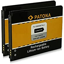 2x PATONA Batterie EB595675LU pour Samsung GT-N719 Galaxy Note 2 GT-N7100 GT-N7102 GT-N7105 GT-N7108 Samsung GT-N7105 Galaxy Note 2 LTE