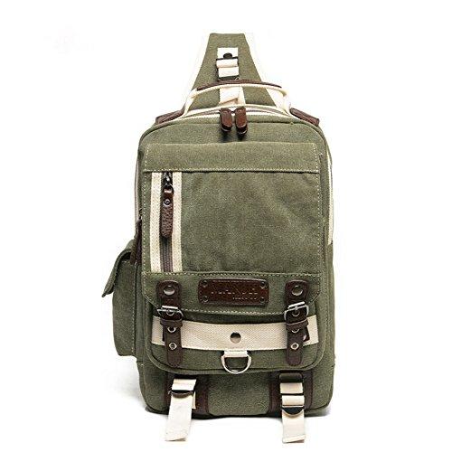 Umhängetasche Outdoor Schleuder Tasche Brust Ungleichgewicht Mini Sling Bag Brusttasche Put Ipad Qualitäts-Schultertasche Grün