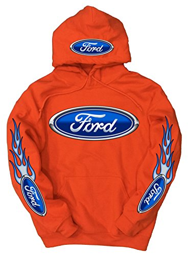 Ford Logo Hoodie Orange XL