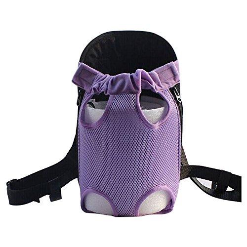 Imagen de bolsa de transporte de mascota  toogoo r  de nylon de neto de asas de portador frente de gato y perro para viaje m purpura