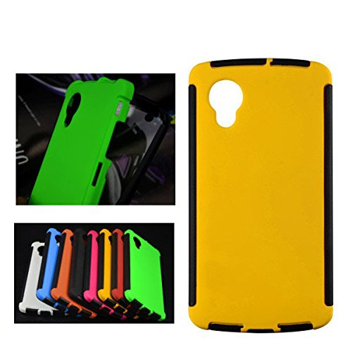 For Google LG Nexus 5 Front + Back 2 in 1 Full Body Touch Screen Protector Hard Case Cover - YELLOW  available at amazon for Rs.299