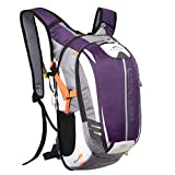 Local Lion Fahrradrucksack Trinkrucksack Reiserucksack Sportrucksack Tagesrucksack Alltags Daypacks Backpack Outdoor Ultraleicht Unisex 18L, Lila