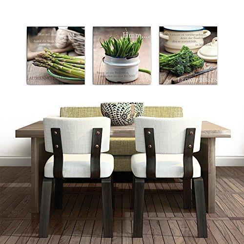 artissimo, Glasbild, 50x50cm, AG9145A, Gaumenschmaus, Küchenbild, Spruchbild, Bild aus Glas mit Spruch, moderne Wanddekoration aus Glas, Wandbild Wohnzimmer modern