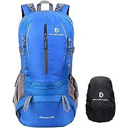 Fafada Wanderrucksack Herren Damen 35L Wasserdicht Trekkingrucksack Reiserucksack Klettenrucksack mit Regenschutz (35L Blau)