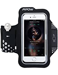 iPhone X / 6s / 6 / 7 / 8 Armband, Mpow Sport Armband Sweat-Free High-Quality Phone Armband with Headphone and Key Slots for Sports, Running, Jogging, Walking, Hiking, Workout and Exercise, Compatible with Samsung Galaxy S5/S6/S7 S6 Edge