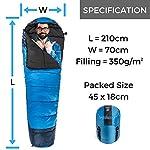 Viking-Trek-350x-Sacco-a-Pelo-Mummia-Singolo-per-Adulto-Impermeabile-Compatto-Traspirante-3-Stagioni-Temperatura-di-Comfort-8C-Ideale-per-Campi-Scout-Trekking-Notti-in-Rifugio-Hiker