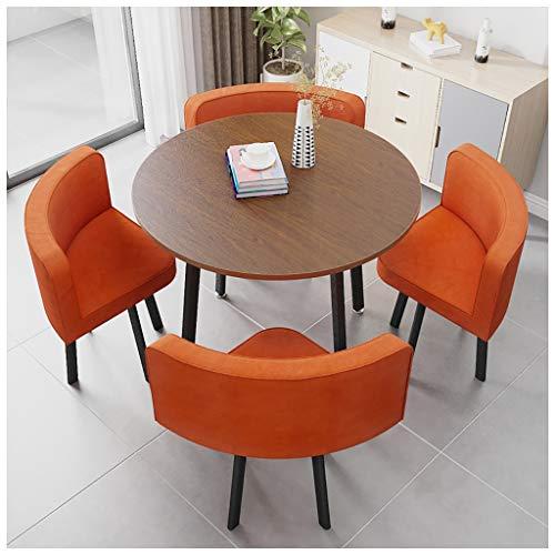 Esstisch Und Stuhl Kombination Moderner Minimalistischer Café Tisch Und Stuhl Satz Hausgarten Balkon Kreative 90cm Kleine Runden Tisch Hotelbüro Empfangsraum Baumwolle Verhandeln Und Wäschestuhl