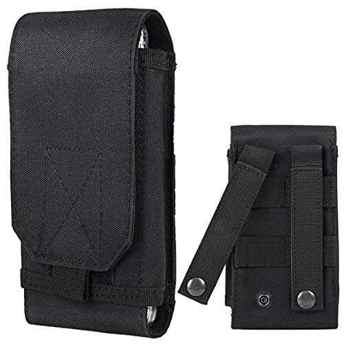 Shidan Tactical Molle Pouch, 1000D Nylon Camo Compact Handytasche Gürteltasche Smartphone (Htc M8 Harten Fall)