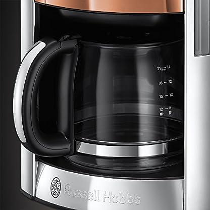 Russell-Hobbs-Digitale-Glas-Kaffeemaschine-Luna-Copper-Accents-Brausekopf-Technologie-programmierbarer-Timer