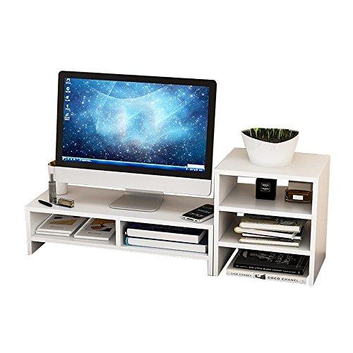 XUE Regal Computer Monitor/TV/Drucker Widescreen-Hebebühne, Holz-Paneele, Desktop Storage Finishing Rack - (Farbe : 2#) - Widescreen-monitor