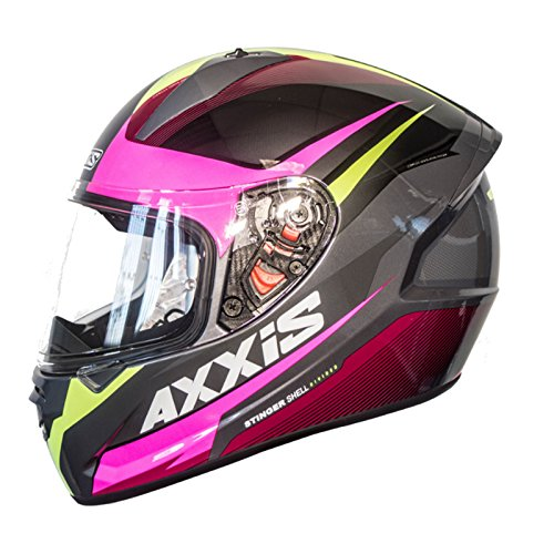 Casco Axxis STINGER DIVIDED Amarillo Fluor