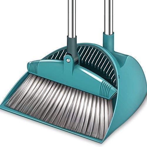 Besen und Dustpan Set,38.5 ' ' ' Lengthened Upright Grips Sweep Combo, 180 ° Rotation Broom für die Reinigung Home Kitchen Garden Room Office ()