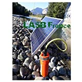 LASB FRANCE - Kit de Bomba Solar de 70 m de Profundidad, con Panel fotovoltaico de 100 W