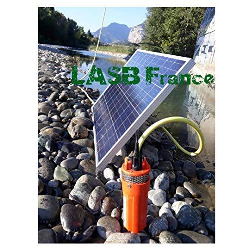 LASB FRANCE - Kit Pompa Solare 70 m di profondità, con Pannello fotovoltaico 100 W