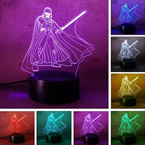3d Led Lava Star Wars Darth Vader Luz De Noche Para Bebés Y Niños Rc Smart Toy Touch Light Dormitorio...