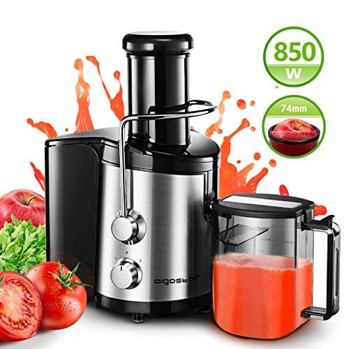 Aigostar 30IMX - Licuadora y extractor de frutas y verduras Potencia de 850 W con bajo nivel de ruido...