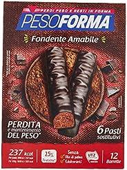 Pesoforma Barrette Cioccolato Fondente Amabile - Pasti sostitutivi dimagranti SOLO 237 Kcal - Ricco in protein