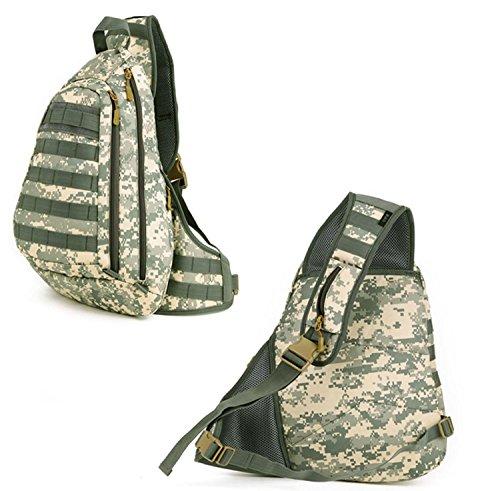 HWDSBXN Indietro grande sacchetto di petto, borsa a tracolla Escursioni zaino Outdoor Camping , C C