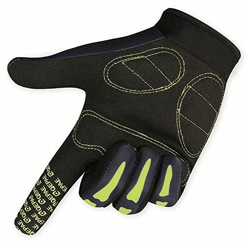 Lerway MTB Fahrrad Voll Finger warmen Radsport Fahrrad Handschuhe Herren Motorrad Vollfingerhandschuhe Herren Fahrradhandschuhe (Grün-M) - 5