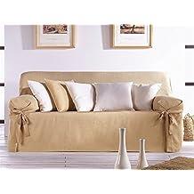 LaNovenaNube - Funda sofa PLUS 3 plazas color Marrón