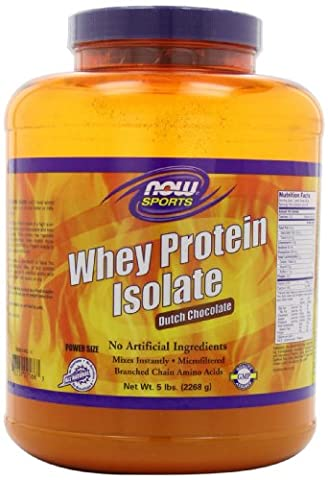 NOW Foods Whey Protein Isolate, Dutch Chocolate, 5-Pound Jar by Now Foods