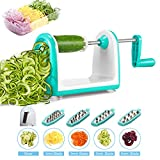 Vegetable Spiralizer, Vegetable Slicer, iNeibo 5-Blade Spiral Slicer Spaghetti Maker with Free Cleaning