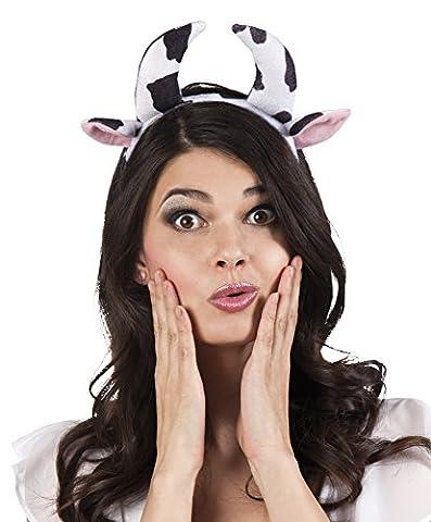 erdbeerclown- Haarreif Kuh Hörner Ohren Kostüm, Mehrfarbig (Einfache Katze-kostüme Für Frauen)
