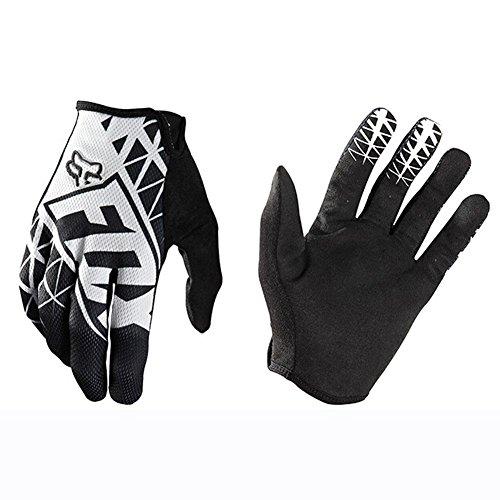 GRUS Motorrad Fahrrad Handschuhe Frühjahr Sommer Handschuhe Kunstfaser Magie Claw Rutschfest Herren Handschuhe (M, Weiß)