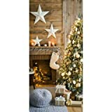 Textilbanner - Thema: Weihnachten - Geschmückter Weihnachtsbaum - 180cmx90cm -