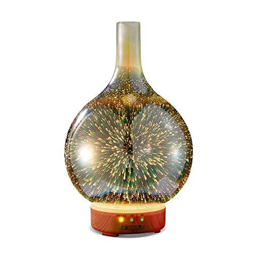 KGV Diffusore di olio essenziale in vetro 3D | Ultrasonic Aroma Essential...