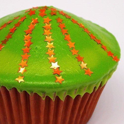 GVO Muttern Gluten zuckerfrei Glitzer Sterne (Orange Popcorn Für Halloween)