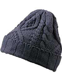 MB Quality Knitted Beanie Cap with Turn Up and Stitching - 6 Colours Beany Hat