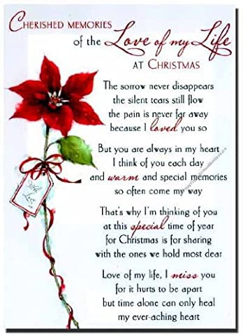 Grave Card - Cherished Memories of the Love of my Life at Christmas - Free Card Holder - CMX06